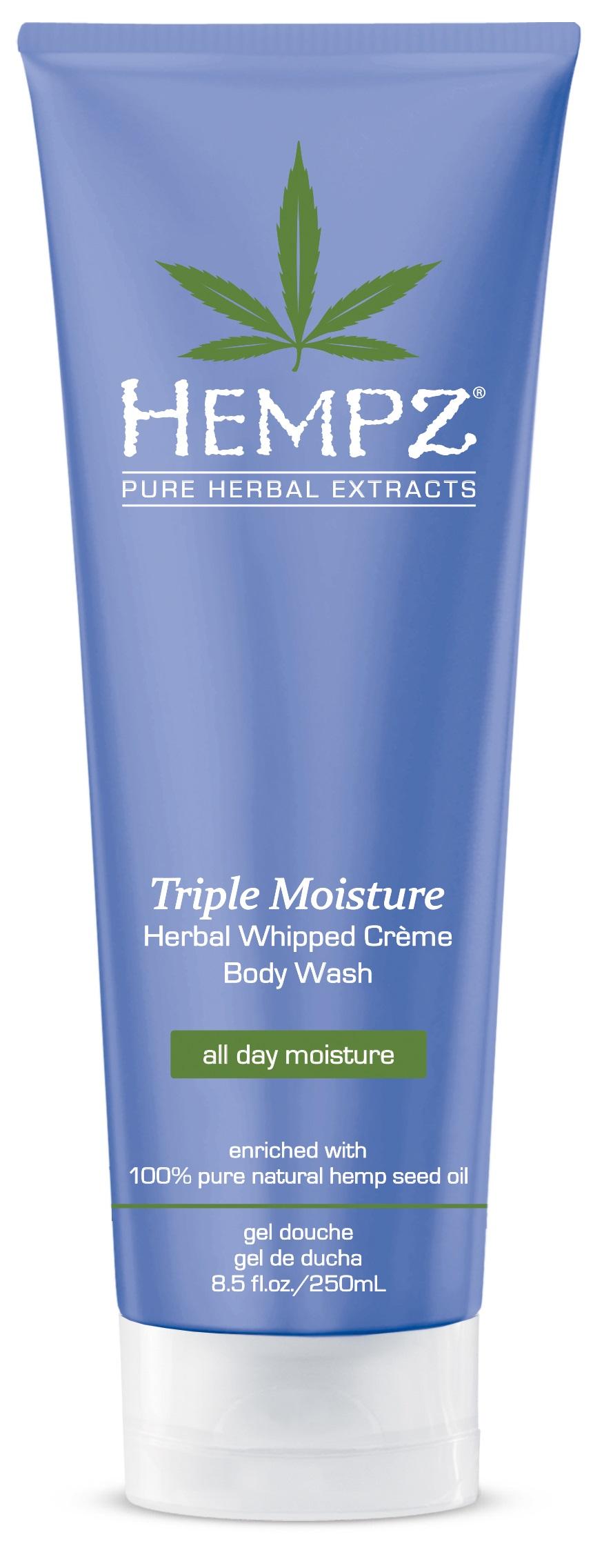 Image of Hempz Triple Moisture Herbal whipped Creme Body Wash 250ml