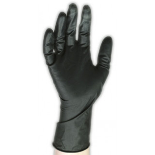 Latex handske - Black Touch str. L