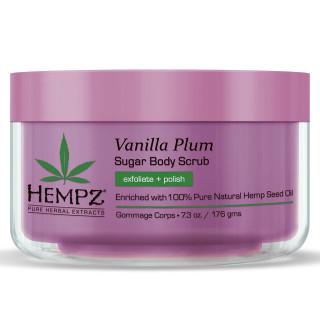 Hempz Vanilla Plum Herbal Sugar Body Scrub 215ml