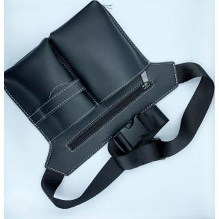 Bæltetaske i læderlook