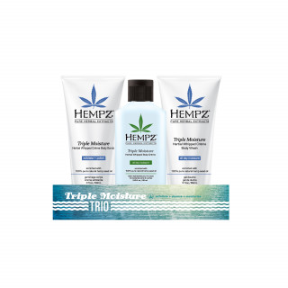 "Hempz ""trio"" Triple Moisturizer 65ml + Wash + Scrub"