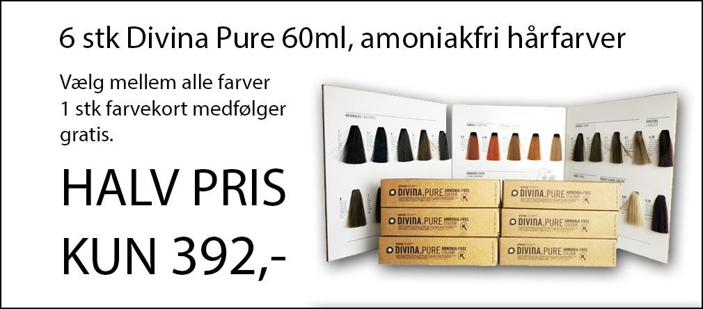 Image of   6 stk Divina Pure farver + gratis farvekort