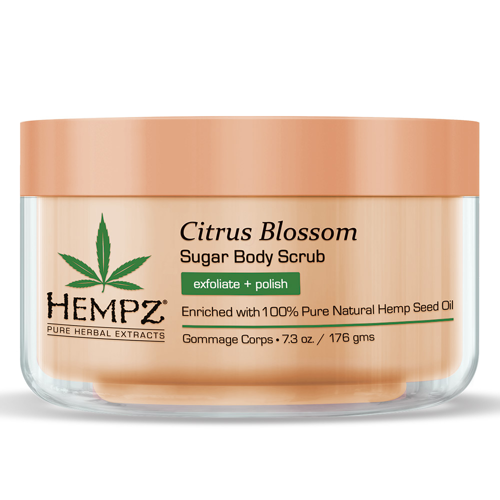 Image of   Hempz Citrus Blossom Herbal Sugar Body Scrub 215ml