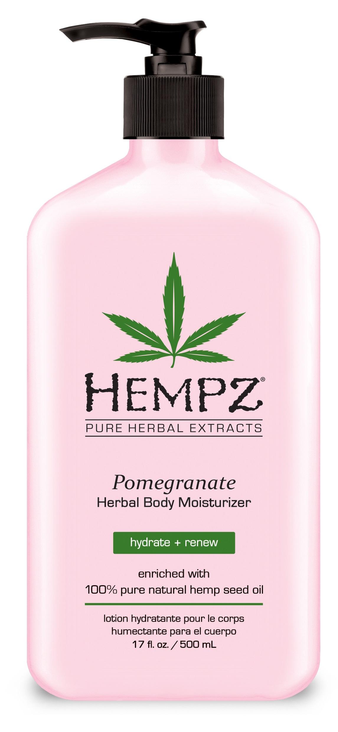 Image of   Hempz Pomegranate Herbal Body Moisturizer 500ml